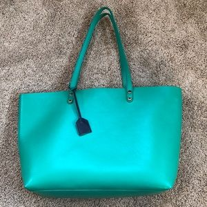 Boden Kelly Green Large Leather Tote